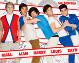 One Direction Line Up Kunstdrucke