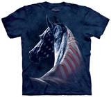 Patriotic Horse T-skjorter