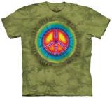 Peace Tie Dye T-skjorte