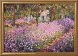 O Jardim do Artista em Giverny, c.1900 Pôsteres por Claude Monet