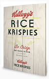 Vintage Kelloggs - Rice Krispies Wood Sign Cartel de madera
