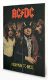 AC-DC - Highway To Hell Wood Sign Cartel de madera