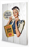 Vintage Kelloggs - I Keep Fit Wood Sign Cartel de madera