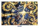 Doctor Who- Van Gogh's Exploding Tardis Posters