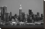 New York Skyline Stretched Canvas Print by Christopher Bliss