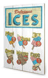 Barry Goodman - Delicious Ices Wood Sign Cartel de madera