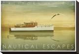 Nautical Escapes 1 Stretched Canvas Print by Carlos Casamayor
