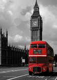 Bus rouge londonien Affiches