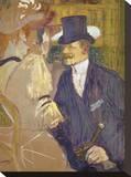The Englishman at the Moulin Rouge, 1892 Reproducción de lámina sobre lienzo por Henri de Toulouse-Lautrec