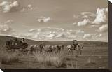 Sombrero Stagecoach Stretched Canvas Print by Barry Hart