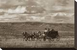 Stagecoach Run Stretched Canvas Print by Barry Hart