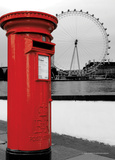 London Red Letterbox Foto