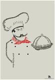 Chef Bon Appetite Languages Text Poster Posters