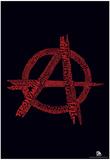 Anarchy Punk Songs Text Poster Julisteet