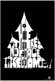 Witch's House There's No Place Like Home Text Poster Pôsters