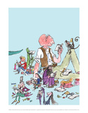 Roald Dahl Characters Reading Affiches par Quentin Blake