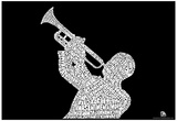 Jazz Songs Text Poster Plakater