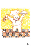 Chef Bon Appetite Text Poster Posters