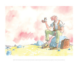 The BFG and Sophie Posters by Quentin Blake