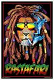 Rastafari Lion Blacklight Poster Pôsters