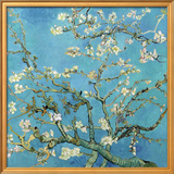花咲くアーモンドの枝(1890年) 高品質プリント : フィンセント・ファン・ゴッホ