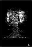 Mushroom Cloud E=MC2 Text Poster Poster