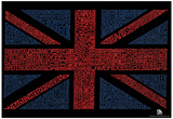 UK Cities Union Jack (Black) Text Poster Posters