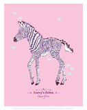 WWF Grevy's Zebra - Animal Tails Print by Annette D'Oyly