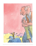 The BFG and Sophie Print by Quentin Blake