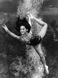 January 1970:  Underwater Ballet Routine at a Theatre at Weeki Wachee Spring, Florida. Reproduction photographique