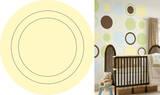 Buttercup Yellow Concentric Dot Wall Decal Sticker Adesivo de parede