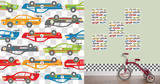 Rally Racers Blox Wall Decal Sticker Adesivo de parede