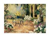 Floral Courtyard Posters tekijänä Allayn Stevens