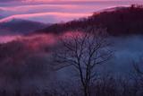 Sunset and Low Clouds Over the Blue Ridge Mountains Reproduction photographique par Amy & Al White & Petteway