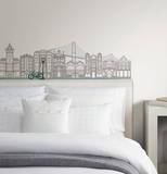 Globe Trotter Small Wall Art Decal Kit Adesivo de parede
