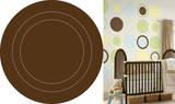 Espresso Brown Concentric Dot Wall Decal Sticker Adesivo de parede