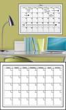 White Dry-Erase Calendar Wall Decal Sticker Adesivo de parede