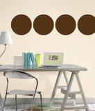 Espresso Brown Dot Wall Decal Sticker Adesivo de parede