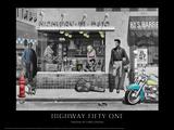 Highway 51 (Silver Series) Giclée-Premiumdruck von Chris Consani