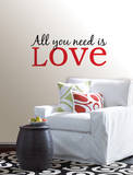 All You Need is Love Wall Art Kit Adesivo de parede