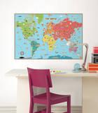 世界地図ウォールステッカー・壁用シール ウォールステッカー