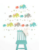 Tag Along Elephants Decal Kit Adesivo de parede
