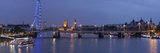 A Blended Composite Panoramic of London on the Thames River at Dusk Photographic Print by Stephen Alvarez