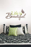 Life is Beautiful Wall Art Kit Adesivo de parede