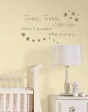 Twinkle, Twinkle Nursery Rhymes Wall Decal Sticker Adesivo de parede