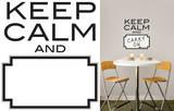 Keep Calm Dry Erase Wall Decal Sticker Quote Adesivo de parede
