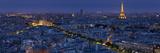 A Panoramic View of the City of Paris, France Fotografisk tryk af Stephen Alvarez