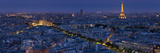 A Panoramic View of the City of Paris, France Lámina fotográfica por Alvarez, Stephen