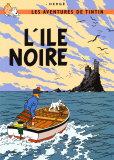 Den sorte ø, ca. 1938 Plakater af  Hergé (Georges Rémi)