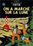 Explorando a Lua, c.1954 Posters por  Hergé (Georges Rémi)
